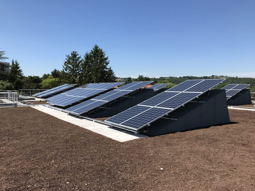 installation solaire sur structure rail